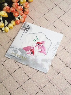 Beautiful Embroidery Handkerchief Series--Goldfish