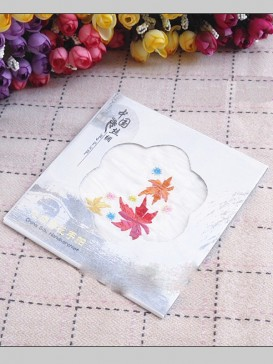 Chinese Embroidery Handkerchief Series--Leaves