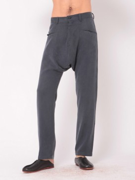 Origianal Simple Style Silk Pants