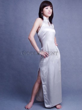 Purity Silvery Grey Backless Dress