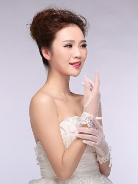 New Style Lace Floral Wedding Gloves