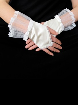 Lovely Bowknot Style Wedding Gloves