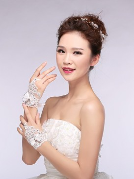 Fashionable Bowknot Style Wedding Gloves