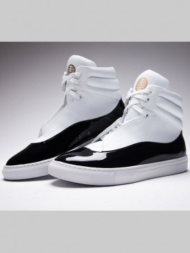 Black&White Tai Ji Style Men's Shoes