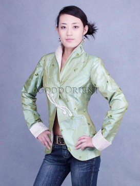 Pale Moss Green Thai Silk Jacket