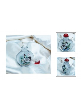 Elegant Red-crowned Cranes Snuff Bottle