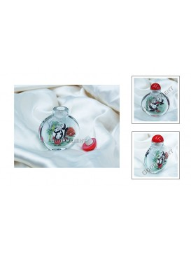 Chinese Panda Family Snuff Bottle