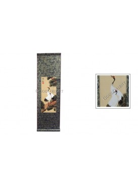 Traditional Chinese Hand Water-color Painting Scroll---Red-crowned Crane