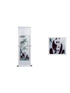 Traditional Chinese Hand Water-color Painting Scroll---Panda & Bamboo