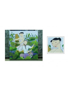 Chinese Oil Painting---Collecting Lotus Seed