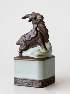 Exquisite Chinese Zodiac Tea Pet Series--Goat