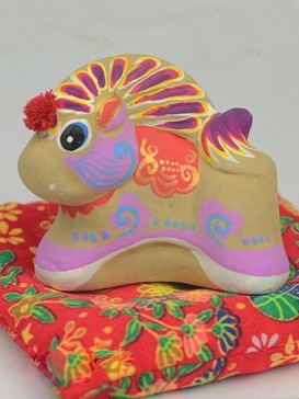 Hand-Painted Zodiac Clay Sculpture Series--Horse
