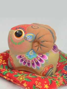 Hand-Painted Zodiac Clay Sculpture Series--Goat