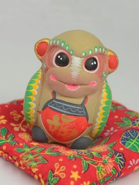 Hand-Painted Zodiac Clay Sculpture Series--Monkey