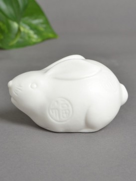 Traditional Zodiac Symbol Porcelain Decoration--Rabbit