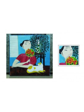 Chinese Oil Painting---Concern