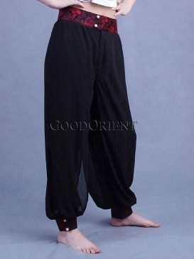Black Chiffon Loose Pants