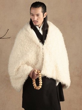 Fashionable White Chinese Men's Vest