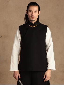 Handsome Black Chinese Men's Vest