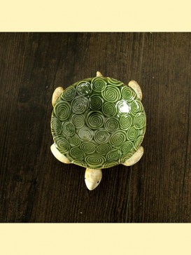 Lovely Pottery Turtle Decoration