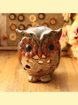 Lovely Pottery Owl Decoration