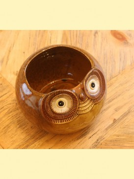 Delicate Pottery Owl Style Decoration