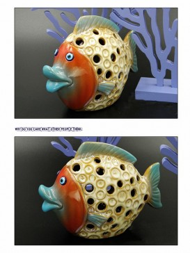 Oriental Lovely Style Pottery Series--Fish