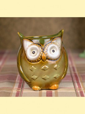 Lovely Pottery Owl Style Decoration