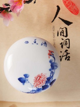 Exquisite Lotus Pattern Seal Ink Container