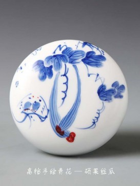 Oriental Style Seal Ink Container--Towel Gourd