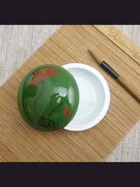 Oriental Style Seal Ink Container--Lotus