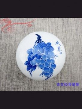 Oriental Style Seal Ink Container--Grape