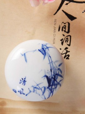 Oriental Grape Style Seal Ink Container