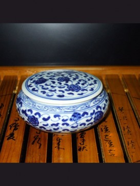 Oriental Style Seal Ink Container--Peony