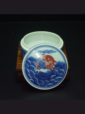 Delicate Fish Style Seal Ink Container