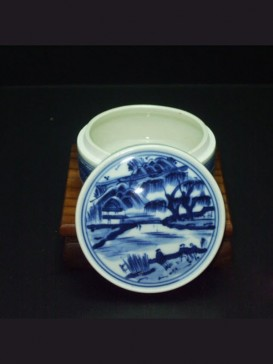 Oriental Style Seal Ink Container--Landscape