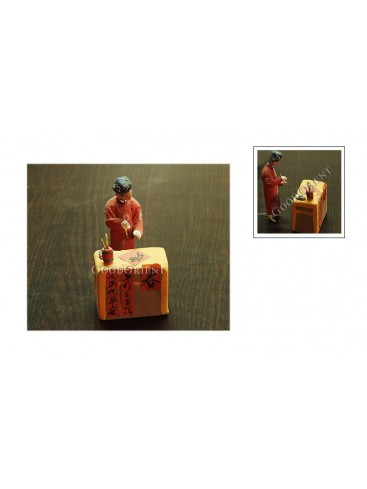 Writing Spring Festival Couplets Clay Figurine