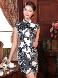 Alluring Geometric Pattern Chinese Dress