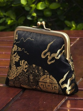 Attractive High-Grade Silk Purse--Dragon