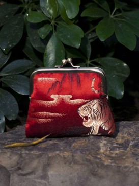 Oriental High-Grade Silk Purse--Tiger