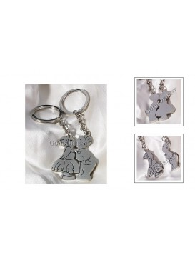 Kissing Kids Lover's Key Chains Set
