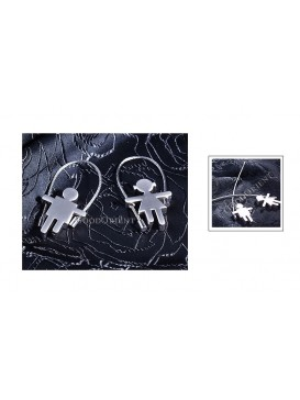 Rope Skipping Lovers Key Chains Set