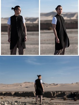 Ethnic Black Color Men's Gown