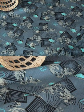 Attractive Dragon Pattern Cotton Fabric For Dress