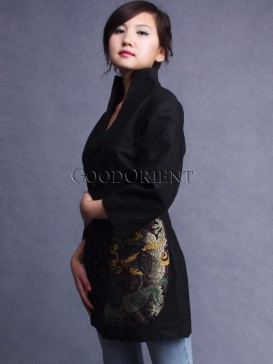 Magic Golden Dragon Linen Jacket