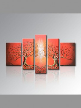 Abstract Love Trees Pattern Oil Painting