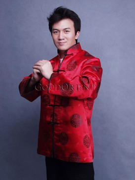 Chinese Red Fu and Shou Jacket