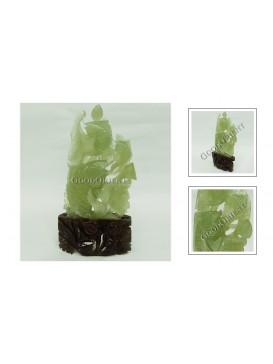 Fish Springing Jade Decoration