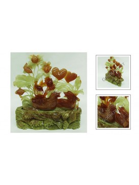 Mandarin Duck Jade Decoration
