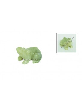 Jade Wealth Toad Decoration
